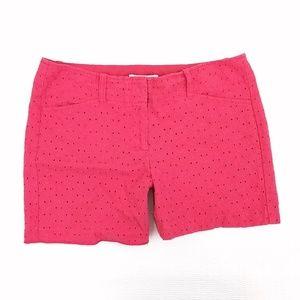 🌴 WHBM dressy eyelet shorts size 4